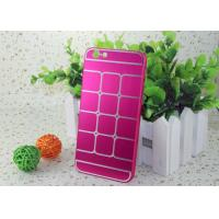Wholesale Durable Pink Aluminum + PC Iphone Protective Cases / Brushed Metal Phone Case from china suppliers