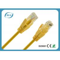 26AWG Stranded OFC Cat5e UTP Patch Cord With 8P8C RJ45 Connector Yellow