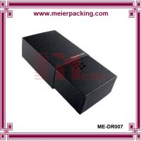 Quality Black art paper slider drawer box, luxury design paper box for Suit Tie ME-DR007 for sale