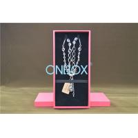 Solid Luxury Cardboard Jewelry Boxes , Removable Insert Pads For Necklace