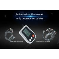Quality 12 channel &3 Channel Portable Holter ECG with Smart and White Recorder 24-72 for sale
