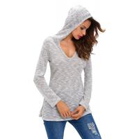 Wholesale 100% Viscose Hooded Pullover Sweater , Jersey Knit Cute Fall Oversized Sweaters from china suppliers