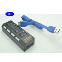 3.0 Cable USB Ethernet Adapter Hub , Network Attached UBS Hub For Card Reader