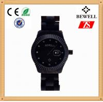 Ladies Bracelet Wooden Wristwatch , Japanese Movement Black Wood Watch