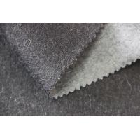 Buy cheap Simple Plush Fleece Fabric , Smooth Hand Feel Grey Wool Upholstery Fabric from Wholesalers