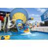 Blue Large Tornado Fiberglass Water Slides For Water Park ISO9001