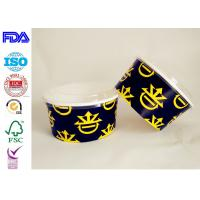 Wholesale High Grade Custom Kraft Paper Salad Bowls With Lids , Flexo / Offset Printing from china suppliers