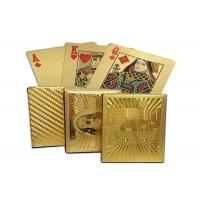 Quality 24K Carat 100 Dollars Golden Cards Gold Foil Plated Poker Game Playing Cards for sale