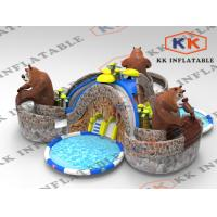 Wholesale Cartoon Bear inflatable floating water park Commercial Rental from china suppliers