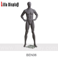 Wholesale dark gray male abstract mannequin arms bending hands on waist BEN06 from china suppliers