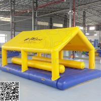 Wholesale Yellow / Blue Inflatable Water Parks Equipment Pvc Tarpaulin Sealed 3 Years Warranty from china suppliers