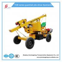 tdb hot sale construction highway hydraulic pile driving machine for guardrail post installation