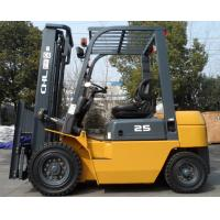 Buy cheap Diesel power Industrial Forklift Truck  2500kg rated capacity with 5 meters 3 stage mast from Wholesalers