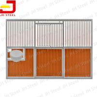 Wholesale Hot Dip Galvanized European Horse Stalls , Portable Horse Box Stalls Large Size from china suppliers