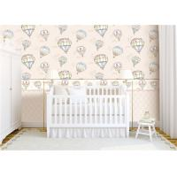 Wholesale Heat Insulation Kids Bedroom Wallpaper For Wall Decoration , Hot Air Balloon Pattern from china suppliers