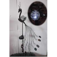 China Glass Ball Peacock Solar Light Stake for Garden on sale
