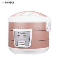 SANSUI 3L Flash color pearl shell; bright hand drawn design for easy cleaning rice cooker,with 3C