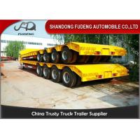 Wholesale 150 - 200 Ton Heavy Duty Lowboy Trailer For Construction Machines 4 Lines 8 Axles from china suppliers