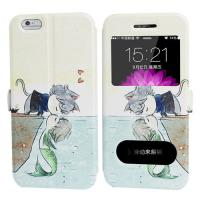 Quality Cartoon Printing iphone 6 and Plus Iphone Leather Case for Girl with Stand for sale