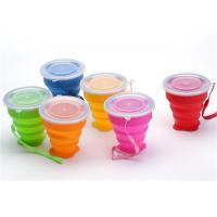 Wholesale Portable Retractable Silicone Drinking Cups 300ml Capacity For Travel from china suppliers