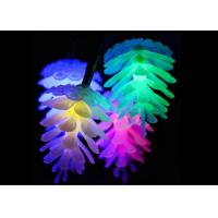 Quality 20 LED Multicolor Christmas Lights 16.5cm Each Bulb Flash / Steady On Mode for sale