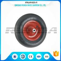 Wholesale Abrasion Resistant Heavy Duty Rubber Wheels , 4PR Heavy Duty Wheels For Trolleys  from china suppliers