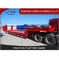 Wholesale Low Bed Trailer , 3 axles 80T lowbed trailer , 4 axles 80T lowbed trailer from china suppliers