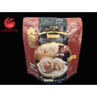 Food Grade Stand Up Pouch With Zipper For Bun Packaging Frozen Available