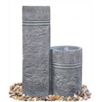 Wholesale Two Closely Cast Stone Outdoor Marble Nature Color Garden Water Fountain OEM Available from china suppliers