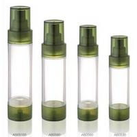 Wholesale Empty Green Airless Pump Bottle 15ml 20ml 30ml Plastic Transparent Lotion Acrylic Bottles from china suppliers