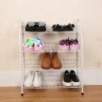 Wholesale H270 Durable Steel Metal Mesh Shoe Rack Quick And Easy Assembly White Color from china suppliers
