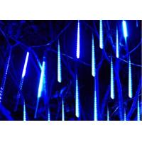 Wholesale Romantic Meteor Shower Falling Star Lights 50cm 10 Tubes 48 LEDs White / Green from china suppliers