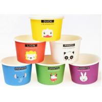 Wholesale Eco Friendly Custom Branded Ice Cream Cups Disposable With Spoons And Lids from china suppliers