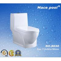 Water Saving Siphonic One-Piece Closet Ceramic Toilet for Bathroom (8030)