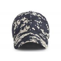 Wholesale 6 - panel Canvas Waterproof Buttonhole Army Camo Cap / Front Curved Baseball Cap from china suppliers