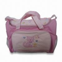 Wholesale Diaper Bag, Made of Polyester, Measuring 16 x 6.5 x 12.25 Inches from china suppliers