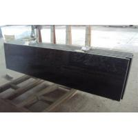 China Black galaxy granite tile kitchen countertops kits with paper holders , faucet , sink on sale
