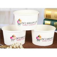 Wholesale 16oz Disposable Paper Ice Cream Cups With Lids Recyclable Logo Printed from china suppliers