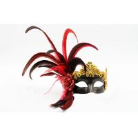 Wholesale Mens Elegant Feather Masquerade Mask For Christmas / Halloween from china suppliers