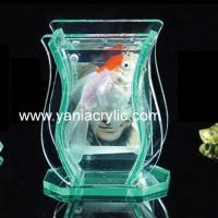 China Display Home Sticking Hardness Luster Acrylic Fish Tanks, Stand With Laser Engraved Logo on sale