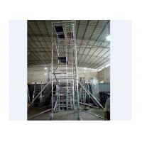 Quality 1.35m Double Width Portable Aluminum Scaffolding Corrosion Resisstance for sale