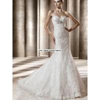 Wholesale Sweetheart Empire Waist Mermaid Lace White Wedding Bride Dress (WD10024) from china suppliers