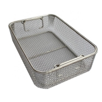 Wholesale Electrolyzation Surgery Sterilization Fine Mesh Basket Container from china suppliers