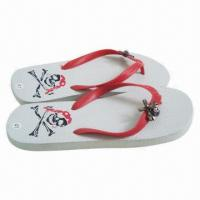 Wholesale 2013 New Design Men's Flip-flops with Owl Embellishment from china suppliers