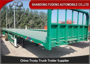 Wholesale Mechanical Suspension 30 Tons Flatbed Container Trailer from china suppliers