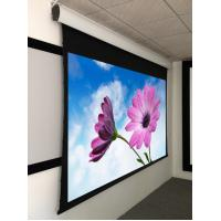 China Tab Tensioned Motorized Screen For Meeting Rooms , Motorized Rear Projection Screen 120'' on sale