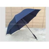 Stormproof Deluxe Blue Windproof Golf Umbrella For Men Straight EVA Handle