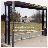 Wholesale Customized Size Flat Tempered/Toughened Glass for Bus Shelter from china suppliers