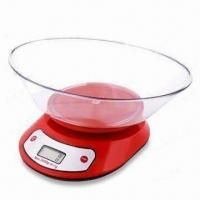 Wholesale Electronic Kitchen Scale, ABS/AS Silvered Plastic Part with Round Plate from china suppliers