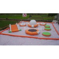 Wholesale 0.9mm PVC Tarpaulin Kids Inflatable Water Park / Water Inflatable Park With Slide from china suppliers